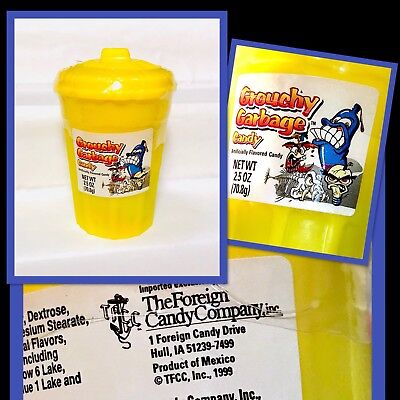 RARE Vintage 1999 Ftcc GROUCHY GARBAGE CANDY Container bubble gum fleer pez