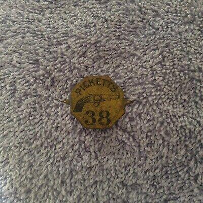 Tin Tobacco Tag - PICKETTS 38 -  Confederate  - Civil War Related