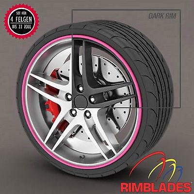 Rimblades FELGENSCHUTZ Styling PINK Felgenschutzringe Rim Guards Wheel Protector