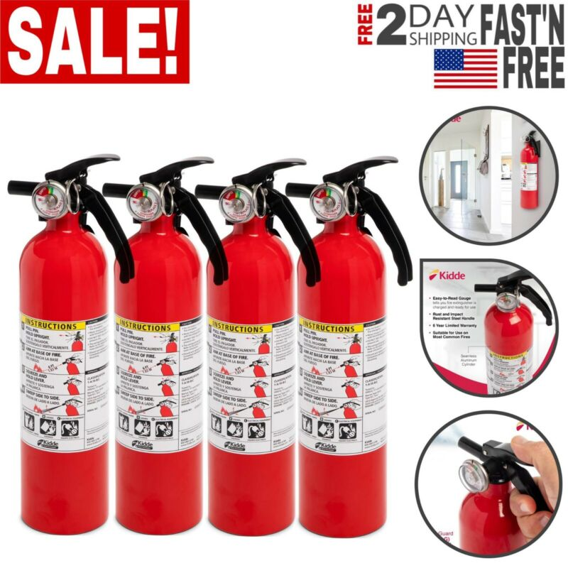4Pcs Fire Extinguisher Home Car Truck Auto Garage Kitchen Dry Chemical Emergency