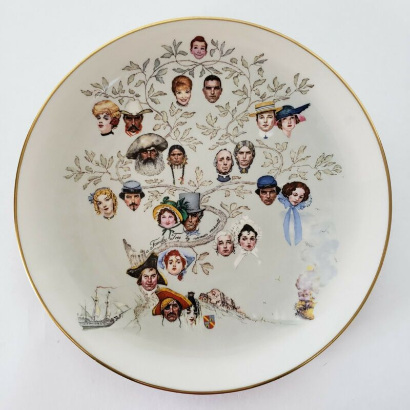 A Family Tree by Norman Rockwell Collector Plate Gorham Fine China USA