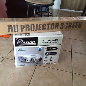 Clarion Lumina 4K LED Digital Projector eBay