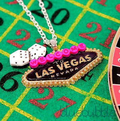 FUNKY CASINO THEME NECKLACE KITSCH RETRO POKER NOVELTY COOL FANCY DRESS - Casino Themed Clothes