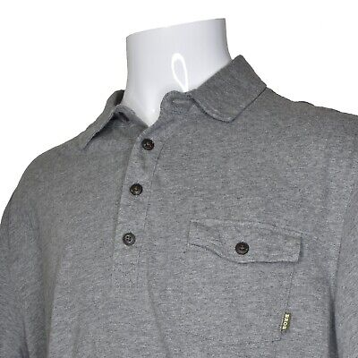 Howler Bros Polo Shirt Pocket Short Sleeve Mens XLarge XL Gray Navy Blue Orange