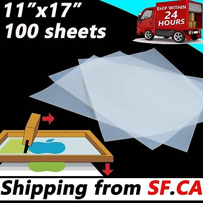 Waterproof Instant Dry Inkjet Transparency Positive Film 11 X 17100 Sheets
