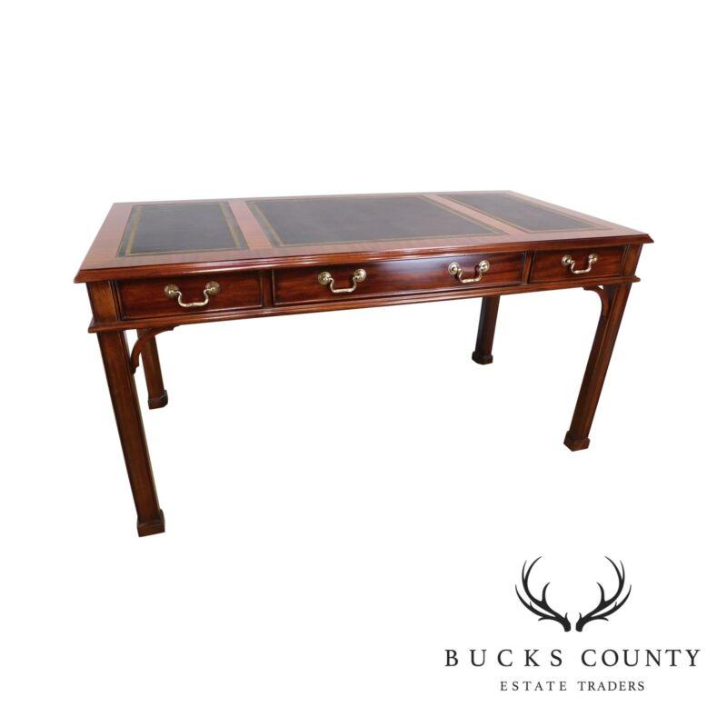 """Henkel Harris 60"""" x 30"""" Rectangular Leather Top Desk"""