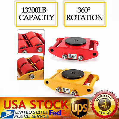 4 Rollers Industrial Machinery Mover With 360rotation Cap 13200lbs Dolly Skate