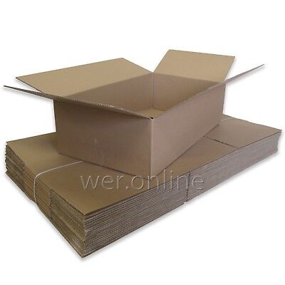 100 x Postal Packing Home Removal Storage Cardboard Boxes 24x18x10