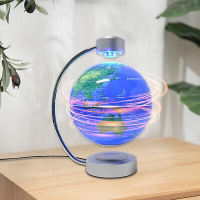 "8"" Magnetic Levitating Rotating Earth Globe Levitation Stand Tabletop Globe 110V"
