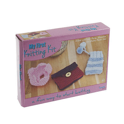 First Knitting Kit - beginners & kids to learn  for sale  Leicester