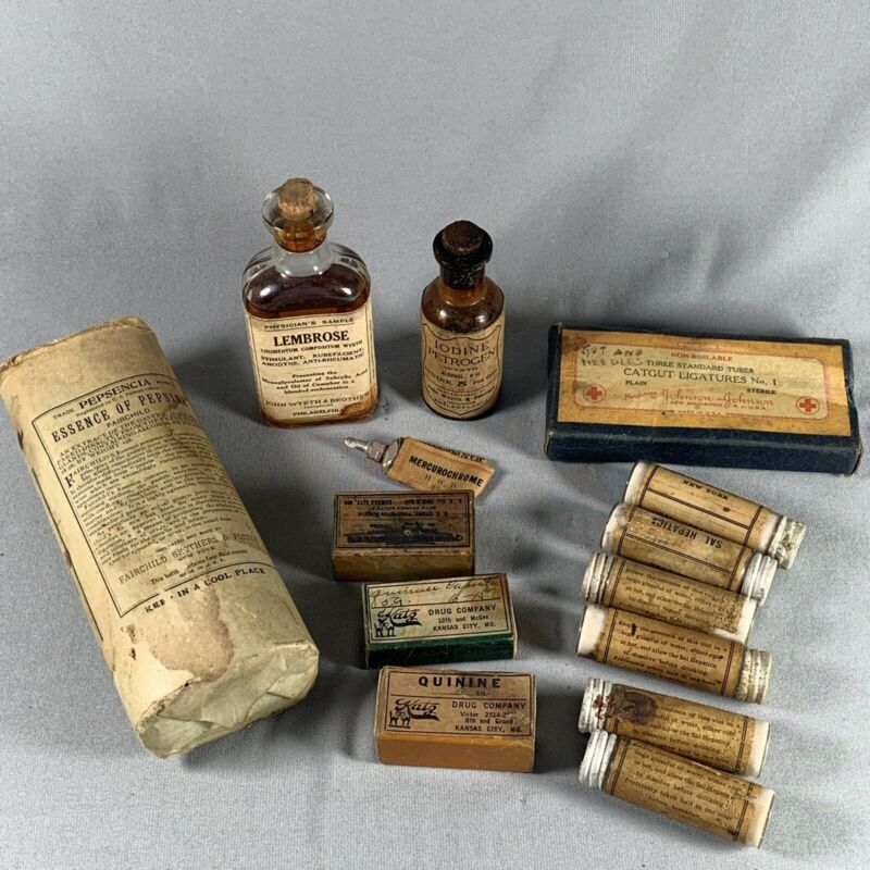 Antique Vtg Pharmacy Medicine Lot