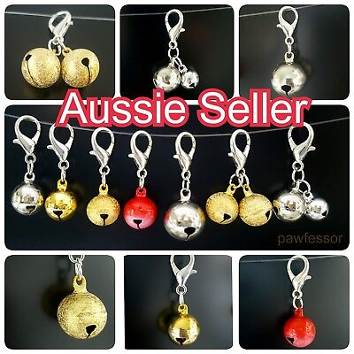 Clip on large jingle bells for Pet Dog Cat Collar Charm DIY decoration bell NEW (Cat Bell Collar Charm)