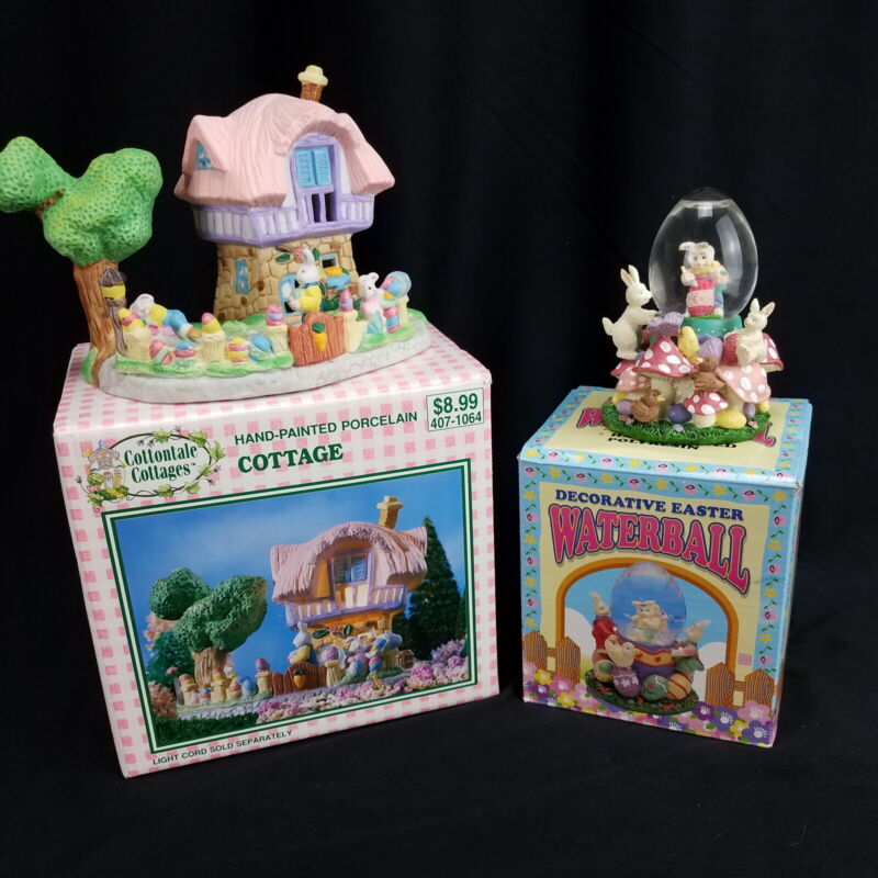 Decorative Easter Water Globe and Cottage