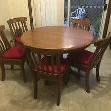 Extendable Dining Table with 6 Chairs Denistone East Ryde Area Preview