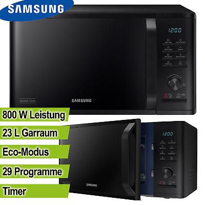Samsung Mikrowelle 800 Watt 23 Liter Mikro schwarz Timer Uhr Kindersicherung NEU (Mikrowelle Sicherung)