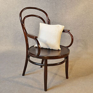 Antique Art Deco Bentwood Armchair Elbow Chair Vintage Cafe Seat C1940 EBay