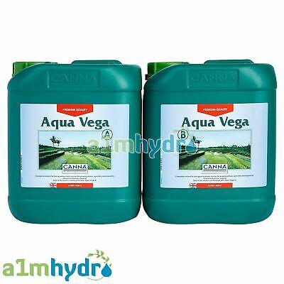 Canna Aqua Vega A+B 5 Litre 5L Plant Food Nutrients Set Hydroponics