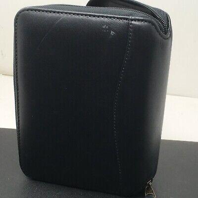 Franklin Covey Pocket Black Leather Spacemaker Smart Phone Pocket Size