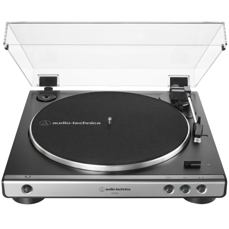 Audio-Technica AT-LP60X-GM Fully Automatic Belt-Drive Turntable 33-1/3 & 45 RPM