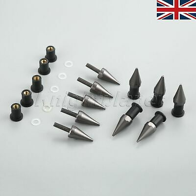 UK 10PCS 5MMX16MM MOTORCYCLE CNC WINDSHIELD SPIKE BOLTS FOR SUZUKI HAY
