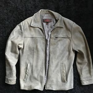 Really Nice - Authentic Men's Danier Leather Jacket - Tan/Grey