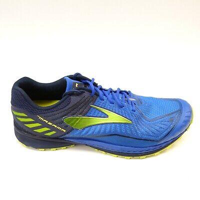 Brooks Mens Size 9.5 Mazama Blue Athletic Running Cross Training Mesh Low Shoes