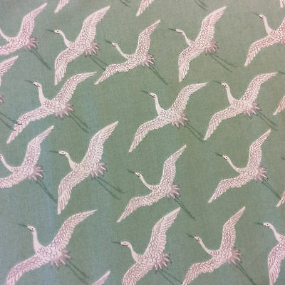 AN41 Asia Japanese Cranes Bird Lizzy House Egret Asian Cotton Quilting Fabric