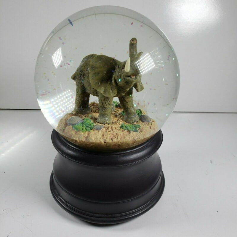 San Francisco Music Box Company Elephant Water Globe Plays Baby