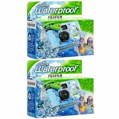Fujifilm QuickSnap Waterproof 800 35mm Disposable Camera 27 Exp 2 Pack