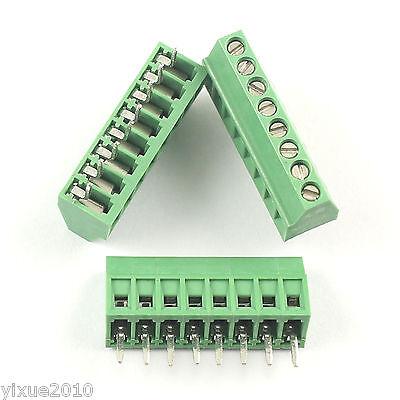 10pcs 2.54mm 0.1 Universal 8 Pin8 Poles Pcb Screw Terminal Block Connector