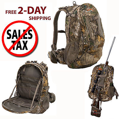 Hunting Backpack Bow Archery Rifle Hiking Camping Tactical Realtree Camo Bag NEW