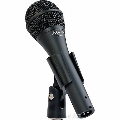 Audix OM6 Dynamic Vocal Microphone OM-6 w/ Warranty Pouch and Clip ()