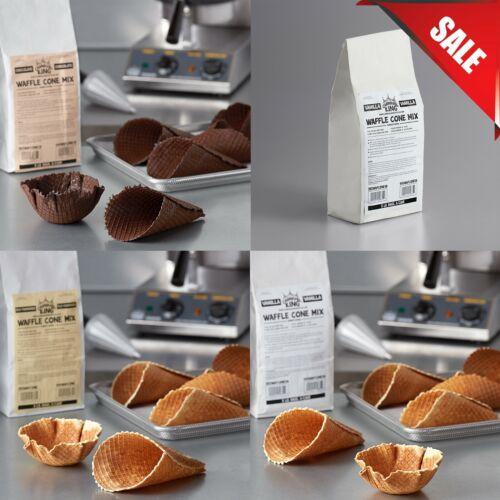(6 CASE) 5 lb. Bag Vanilla Waffle Cone Mix Ice Cream Cones Flavour Variations