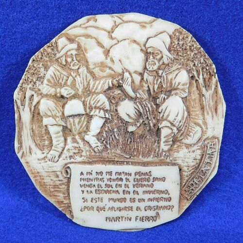 Small Wall Plaque Hanging Two Gauchos Excerpt from Martin Fierro Poem Argentina