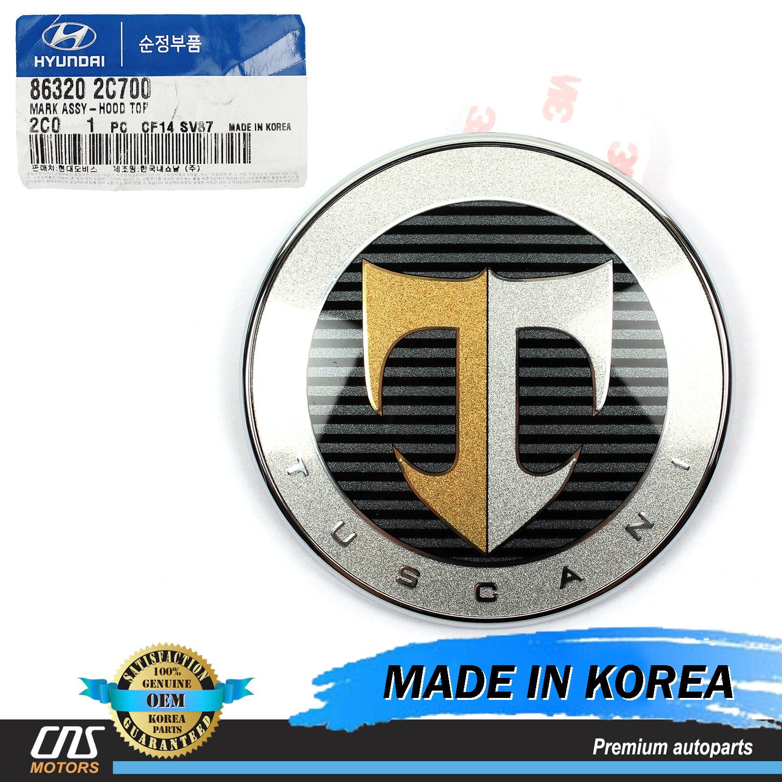 Genuine Top Hood Emblem For 2001 2008 Hyundai Tuscani Ebay