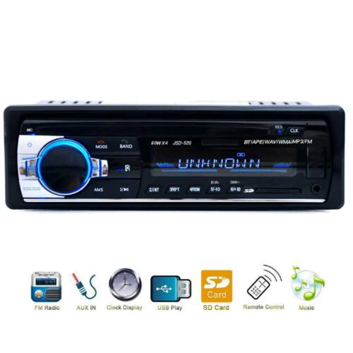 bluetooth car stereo fm aux input receiver