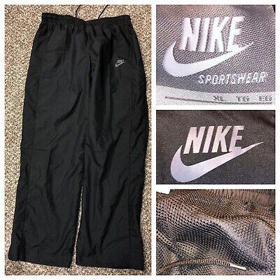 Nike Sportswear Men's Black Mesh Lined Nylon Windbreaker Pants Size XL X 33
