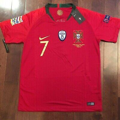b7e87196 Nike Portugal Nations League FINALS GAME Cristiano Ronaldo #7 Jersey size M