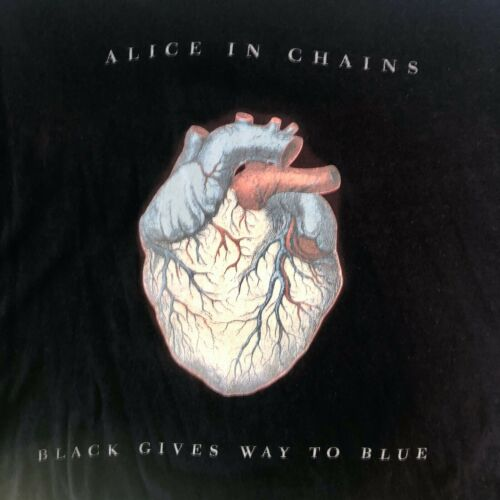Alice in Chains 2010 Official Tour T Shirt Size 2XL Black Gives Way to Blue