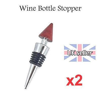 Pack of 2 Champagne Sparkling Wine Bottle Sealer Stopper Plug Corks with Lid