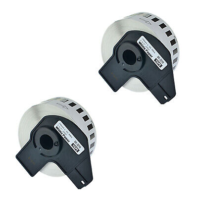 2 Roll Dk-2210 Labels Compatible For Brother Ql-580n W2 Premium Permanent Core