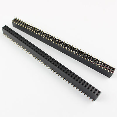 10pcs Pitch 2.54mm 2x40 Pin Double Row Smt Female Header Strip