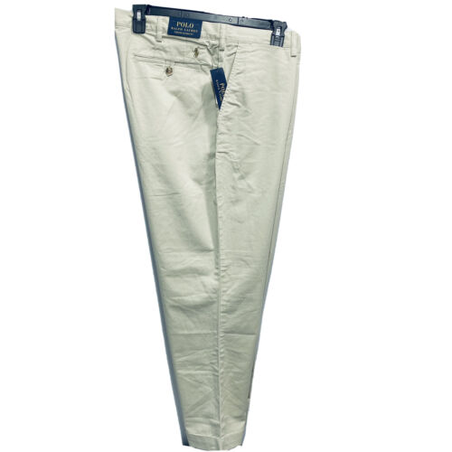 Polo Ralph Lauren Mens Stretch Classic Fit Chino Pants Trousers 36×36 Khaki Clothing, Shoes & Accessories
