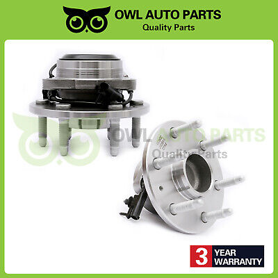 2 Front Wheel Hub Bearing and Hub for 2WD 07-13 Chevy Silverado GMC Sierra 1500