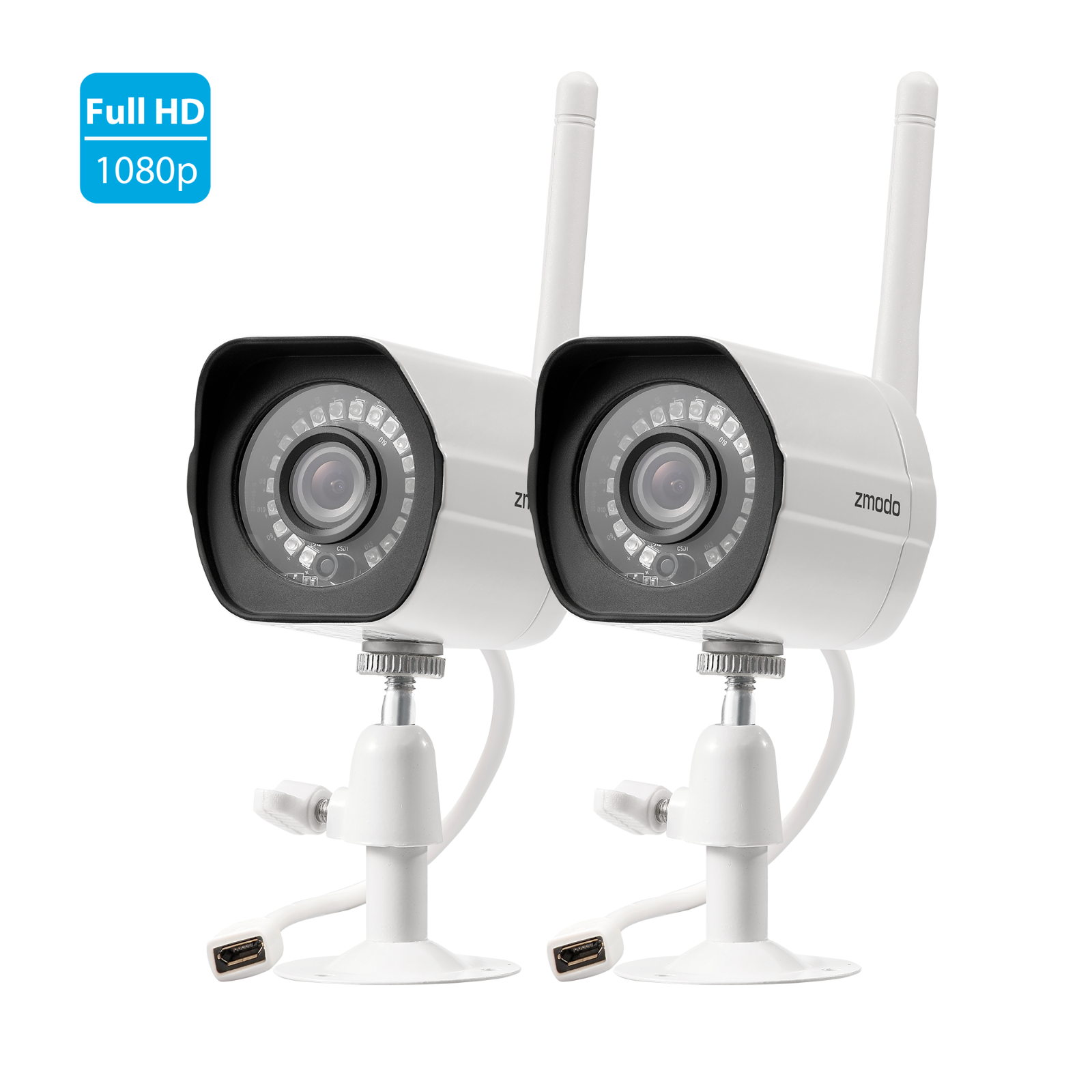 Zmodo 1080p WiFi Indoor / Outdoor Home Security Surveillance Camera *2 Pack*