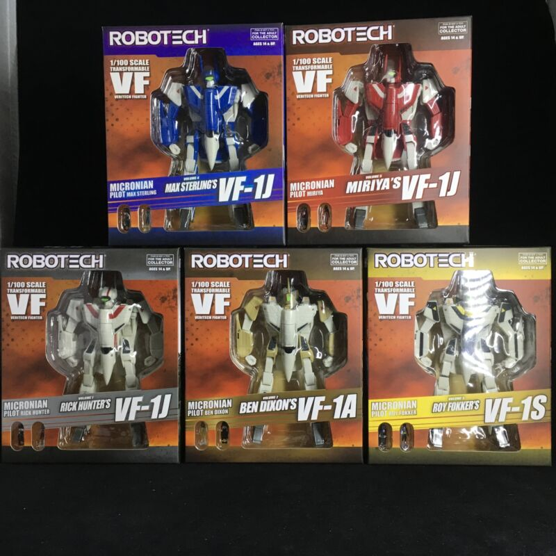 ROBOTECH: Veritech Fighter Collection Volumes 1-5 Full Set - TOYNAMI