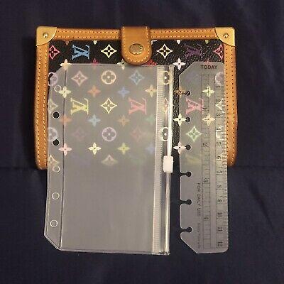 Lv Pm Agenda Pocket Zipper Organizer Pvc Envelope And Ruler Fits For Pm Agenda