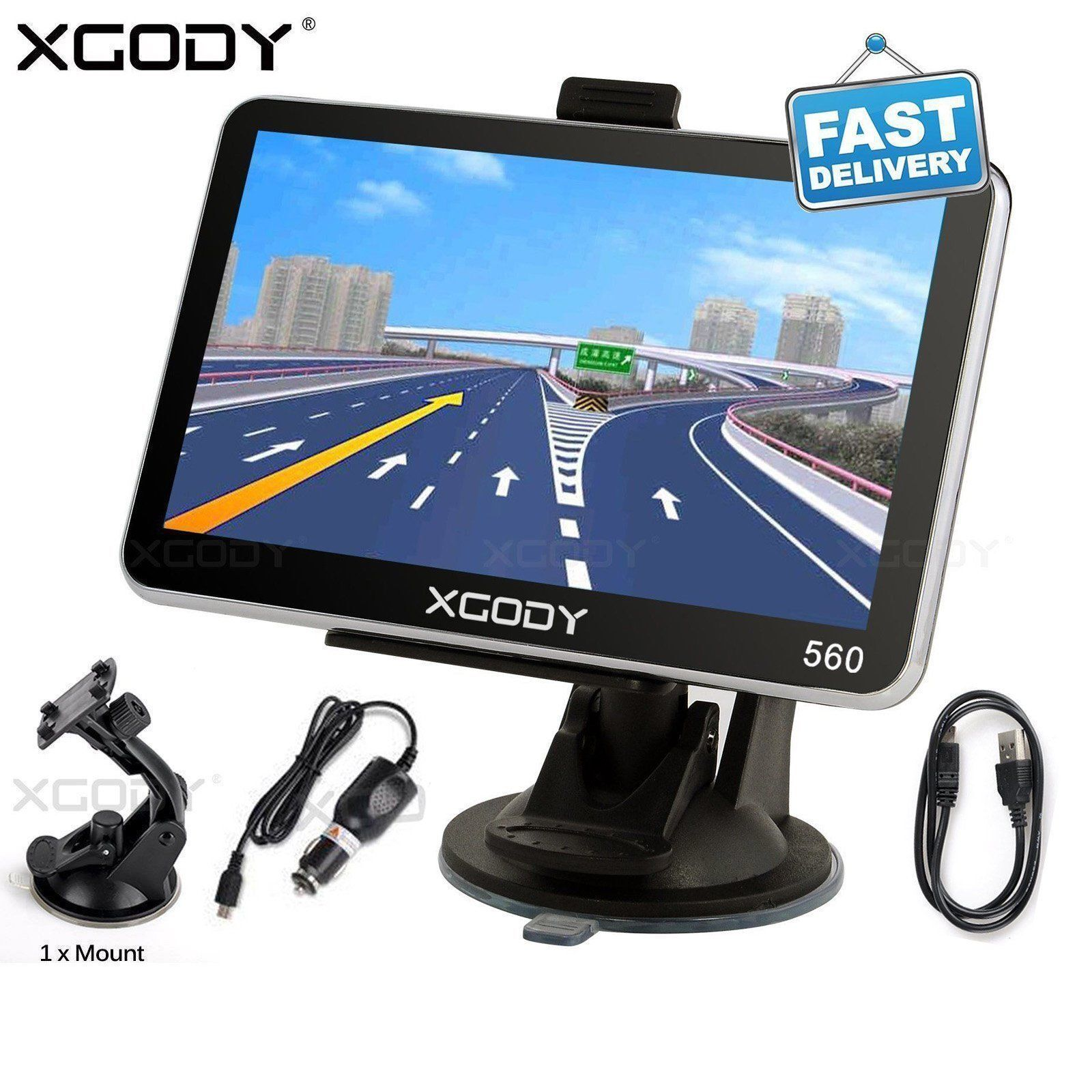 XGODY 5'' TRUCK CAR Navigation GPS Navigator SAT NAV 8GB All US Map SPEEDCAM POI