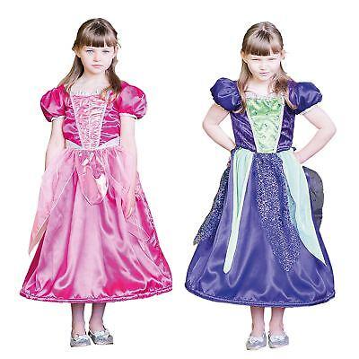 Kinder Mädchen 2 in 1 Prinzessin Böse Königin Märchen Märchenbuch Maskenkostüm ()