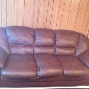 """6' 10""""  Couch Faux Leather"""